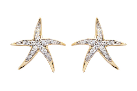 STARFISH 14KT EARRINGS