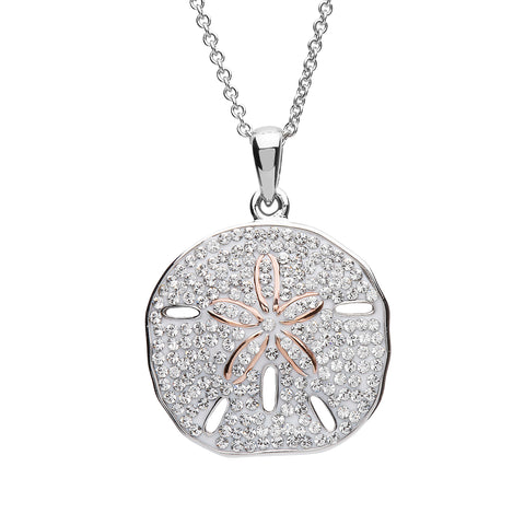 SAND DOLLAR CRYSTAL NECKLACE