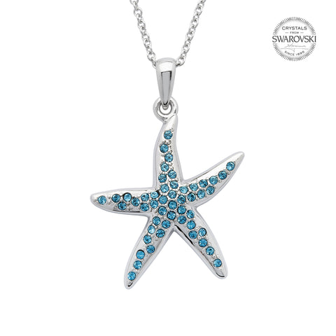 SWAROVSKI STARFISH AQUA NECKLACE