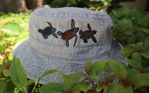 TURTLE TRIO BUCKET HAT