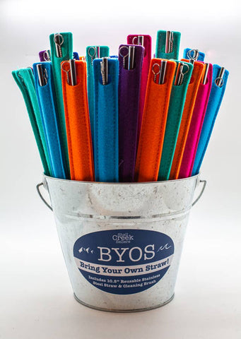 BYOS METAL STRAW & CLEANER