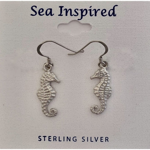 SEAHORSE 3D DANGLE EARRINGS