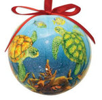 SEA TURTLE CAPIZ COASTAL ORNAMENT