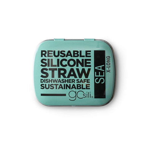SILICONE STRAW TIN XL SEA