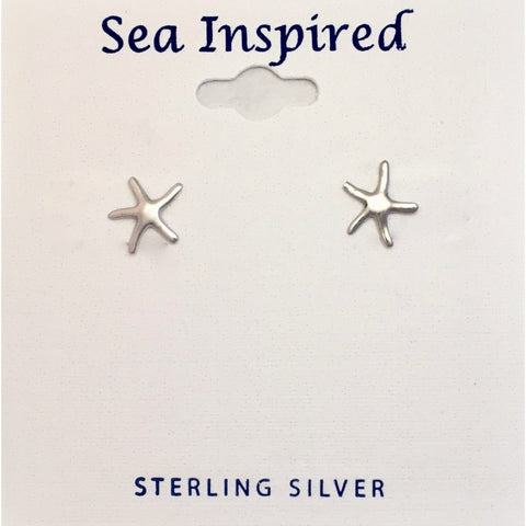 STERLING SEA STAR SMALL POST EARRING