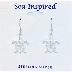 CUT OUT MOTHER & BABY TURTLE DANGLE EARRING