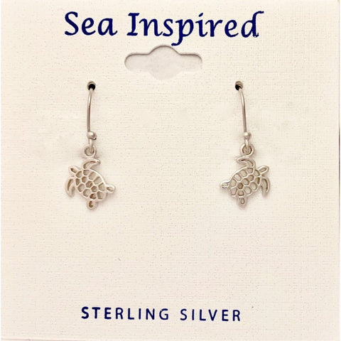 STERLING TURTLE CUT OUT EARRINGS SM