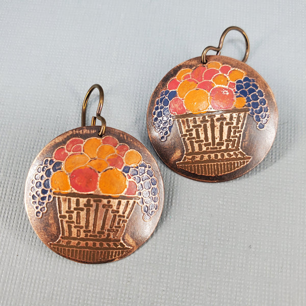 Fruit Basket Earrings - Laurie Tholen