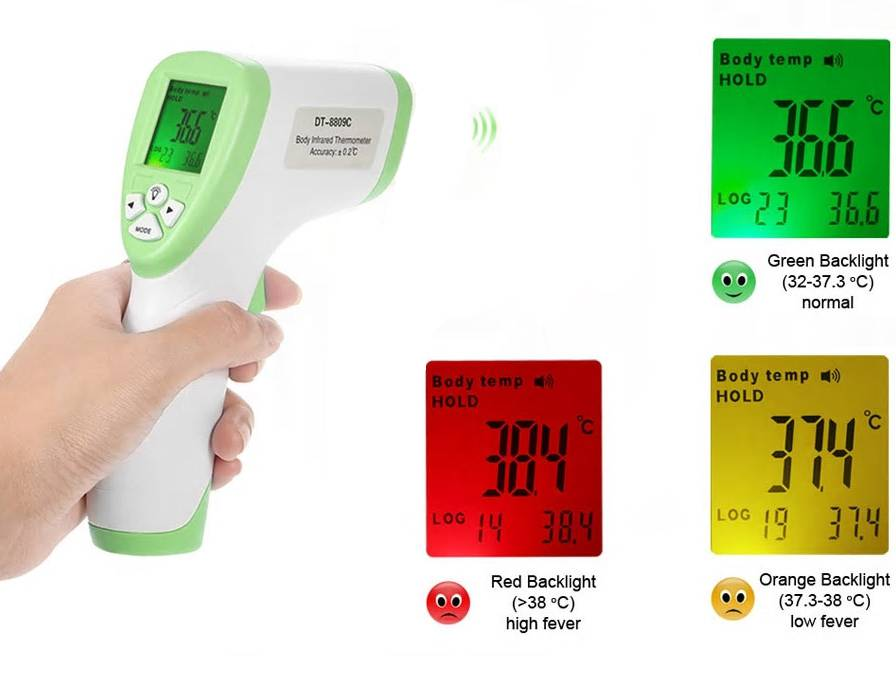 LCD Display Touch-Free Infrared Fever Thermometer for Adults and Kids/ In Stock Non-contact Infrared Thermometer Digital Clinical Thermometer Baby Forehead Thermometer