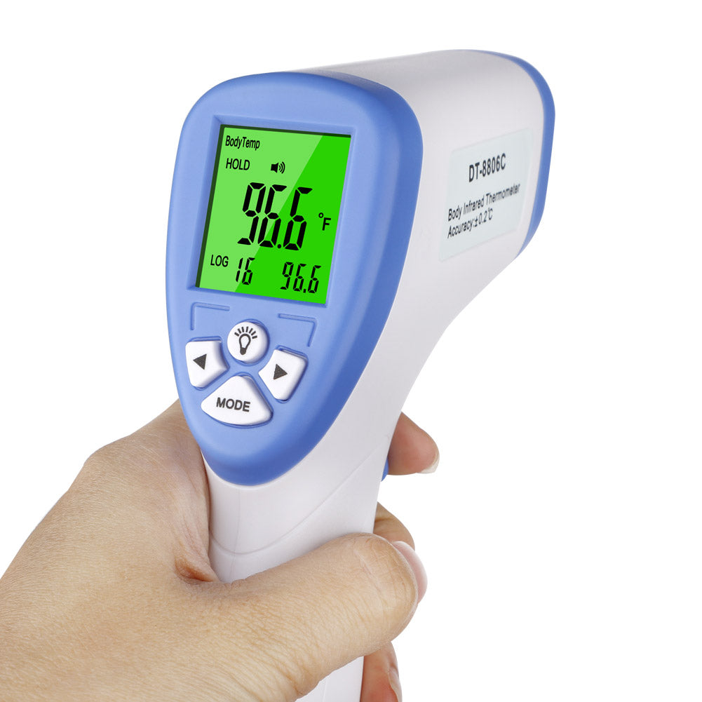 Best Non-Contact Laser Infrared Forehead Thermometer for Adults and Kids/  In Stock Infrared Non-contact Thermometer Digital Temperature Measurement Meter LCD IR Infrared Handheld Thermometer Forehead Body Thermometer for Baby Adult