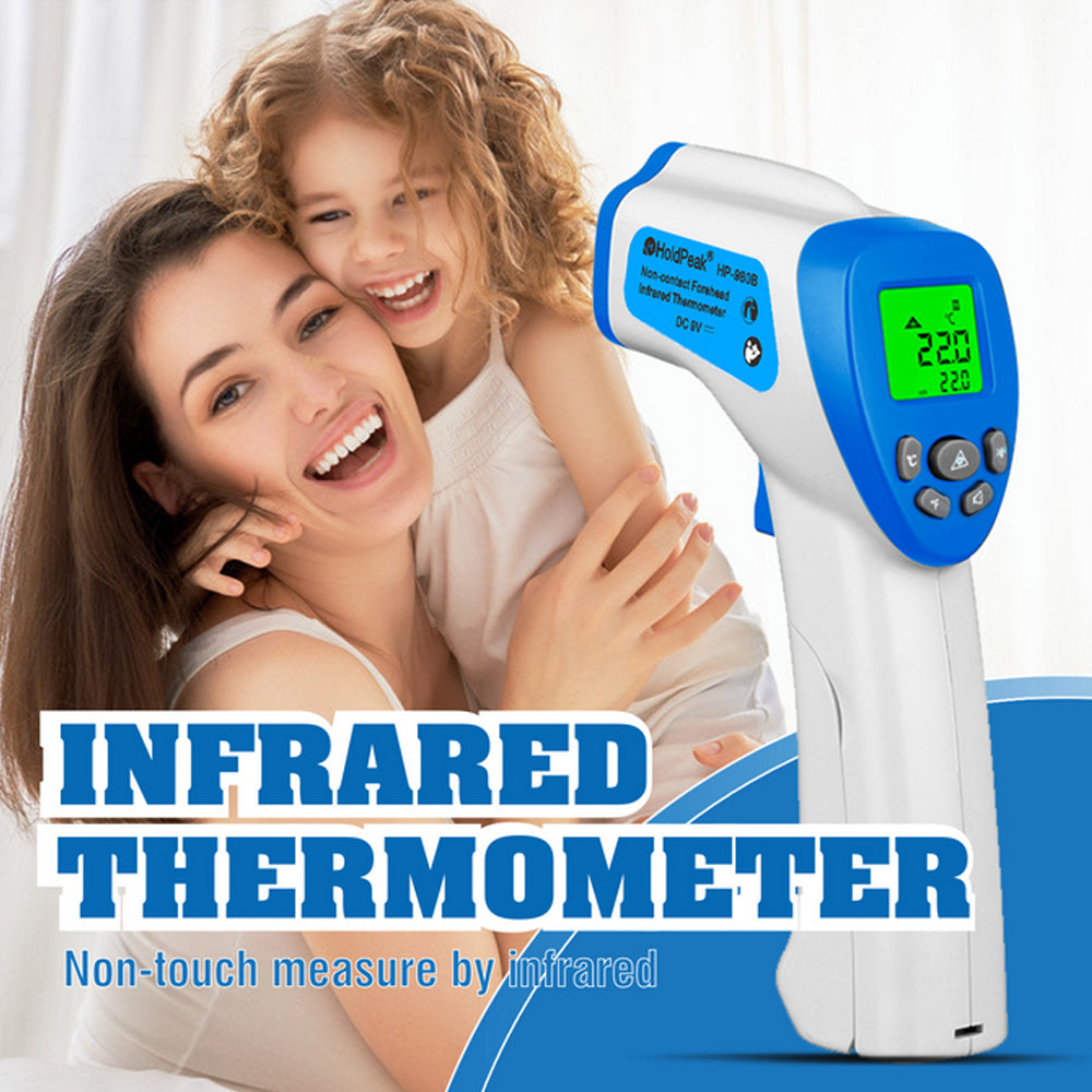 Non-Contact Laser Infrared Forehead Thermometer for Adults and Kids/  In Stock Infrared Non-contact Thermometer Digital Temperature Measurement Meter LCD IR Infrared Handheld Thermometer Forehead Body Thermometer for Baby Adult