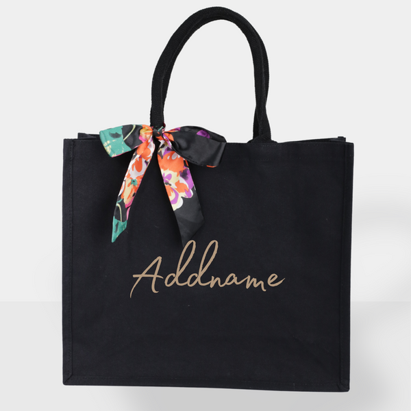 Spring Black Tote Bag