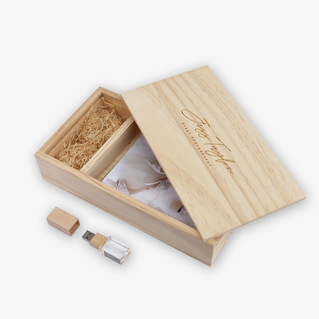 Maple 4R Wooden Box Crystal USB