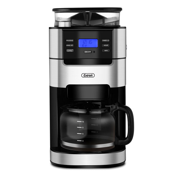 Gevi Grind and Brew Coffee Maker, 10-Cup Coffee Maker (Refurbished-Good)