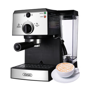Gevi 15Bar Espresso Machine Cappuccino Maker Latte Machine with Milk Frother for Home,42oz Removable Water Tank(Refurbished-Like New)