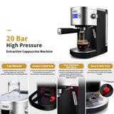 Gevi 20 Bar Espresso and Cappuccino Machine Coffee Maker with Steam Wand, Black(Refurbished-Like New)