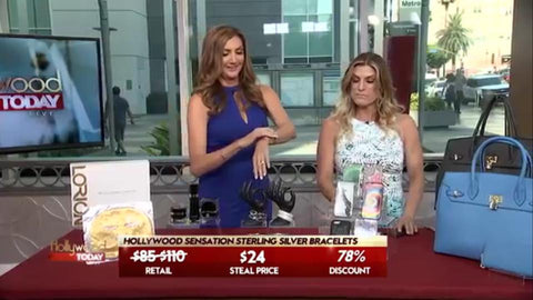 Heather McDonald and Trish Suhr, Tv Host, Life style Expert, Creative Director, representing Hollywood Sensation jewelry, at Hollywood Today Live tv show!