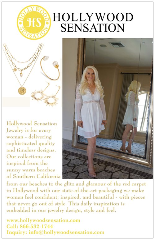 "HOLLYWOOD SENSATION®  Family-Owned Online Jewelry Store Offers Handcrafted ""Signature"" Piece  Oceanside, California – Women love jewelry which makes them feel beautiful like a movie star. For several years, the only way to purchase such jewelry was to visit Hollywood. This has now changed, thanks to a new online family-owned jewelry retailer by the name of ""Hollywood Sensation®."" They carry a variety of jewelry pieces that are handcrafted and designed exclusively for women."