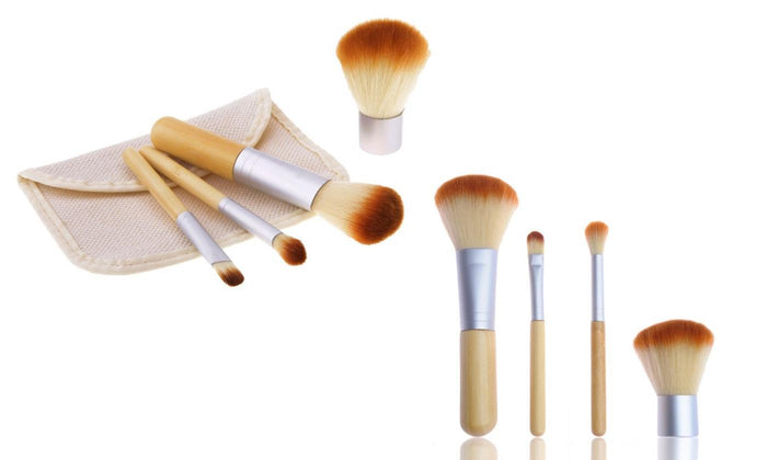 Travel Size 4 Pieces Makeup Brushes