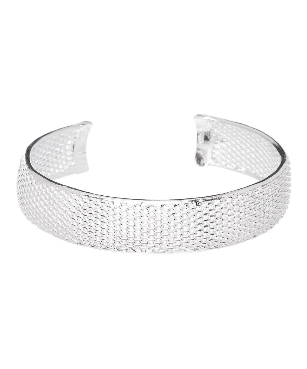 Mariah Silver Cuff Bangle - Hollywood Sensation