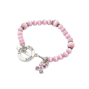 Pink Pearl Cancer Bracelets | Together we can find a cure - Hollywood Sensation