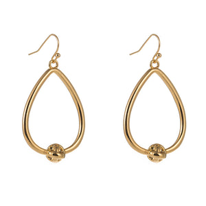 Love Knot Water Drop Hoop Earrings , Fashion Jewelry Brands
