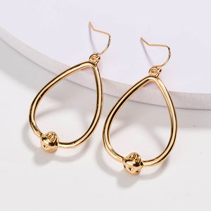 Love Knot Water Drop Hoop Earrings