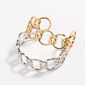 Large Love Knot Friendship Cuff Bangle
