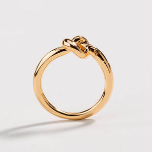 Dainty Love Knot Ring Commitment Ring