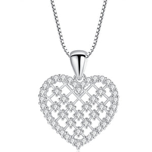Dainty Crystal Heart Pendant Necklace Gold Plated - Hollywood Sensation