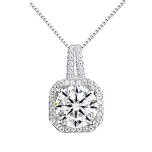Halo Crystal Pendant Necklace 18k Gold - Hollywood Sensation