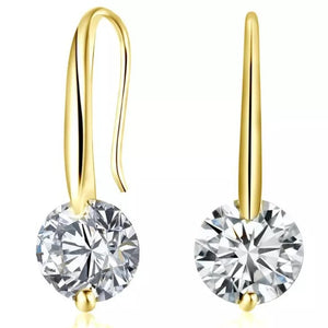 Cubic Zirconia Dangle Earrings 1.5 Carat