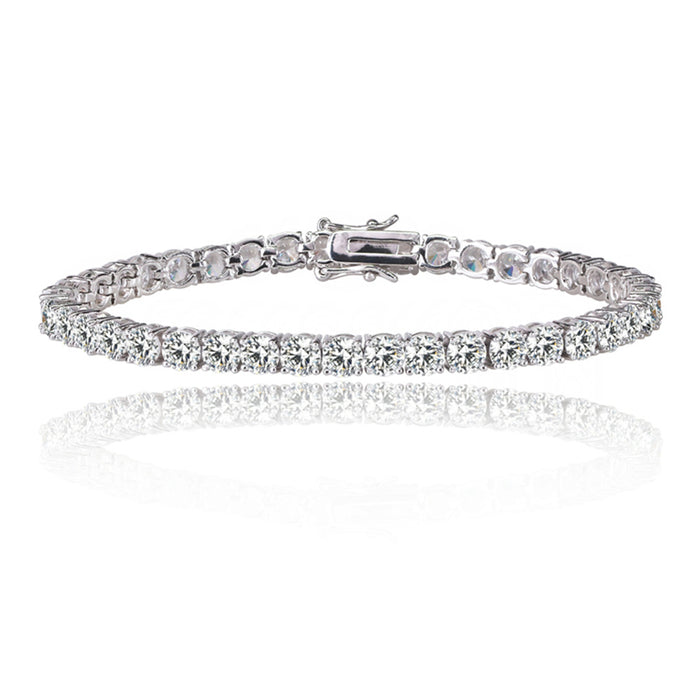 Tennis Bracelet with 1/8 CT White Diamond Cubic Zirconia