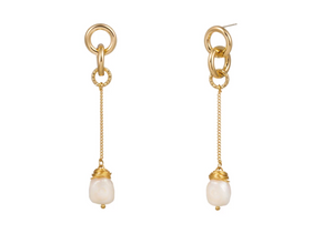 Baroque Pearl Drop Earrings - Hollywood Sensation