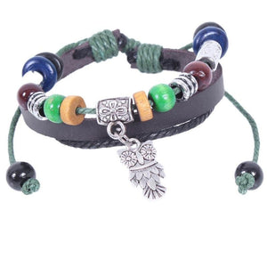 Boho Leather Bracelet Adjustable - Hollywood Sensation