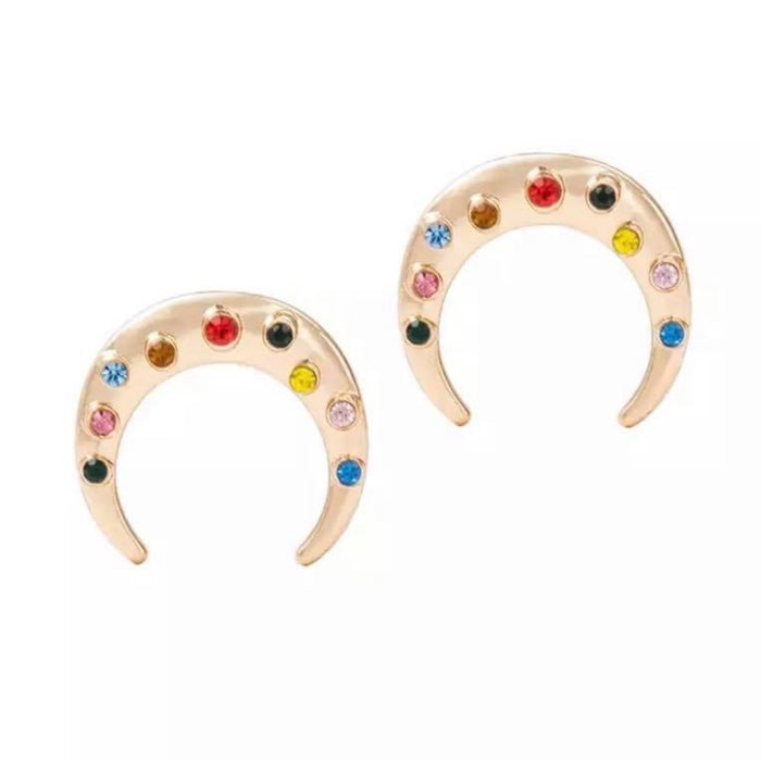 Cresent Moon Stud Earrings