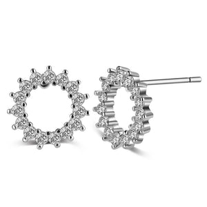 Crystal Halo Stud Earrings , Fashion Jewelry Brands