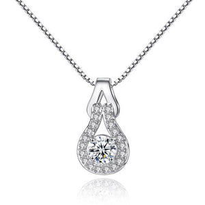 Crystal Pendant Necklace-Hollywood Sensations Fashion Necklace