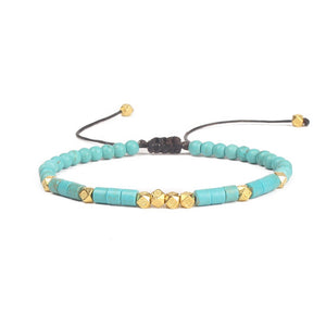 Friendship Bracelet Handwoven Turquoise and Gold or Silver , Fashion Jewelry Brands