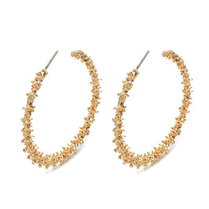 Gold Nugget Hoop Earrings - Hollywood Sensation