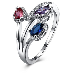 Multicolor Ring-Hollywood Sensation- Multicolor Flower Ring