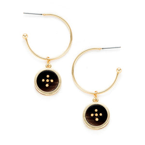 Lucky Five Hoop Dangle Earrings , Fashion Jewelry Brands