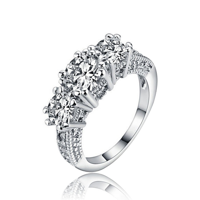 One Half Carat Cubic Zirconia Ring