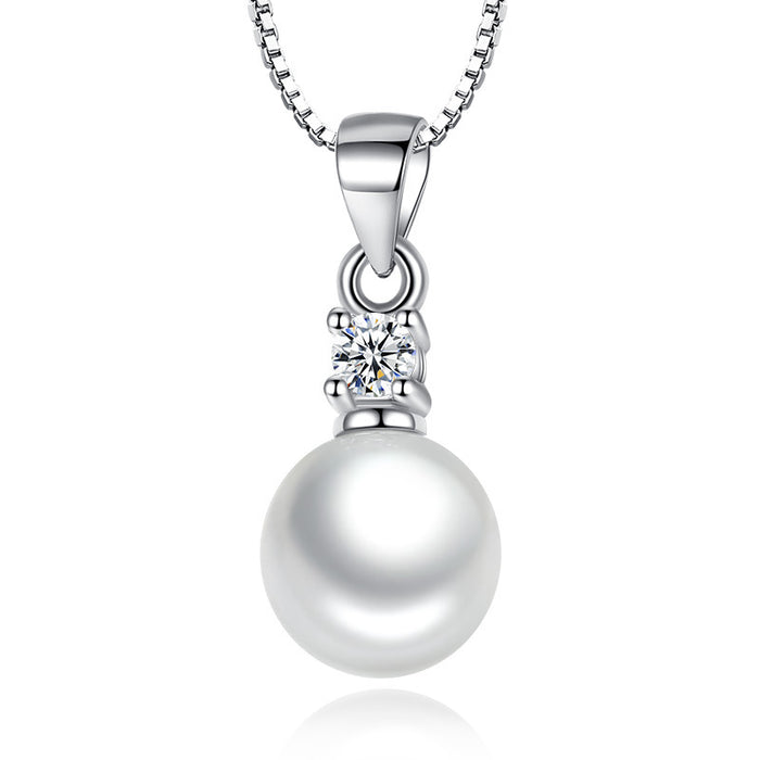 Pearl Pendant Necklace-Hollywood Sensations-Pearl Pendant