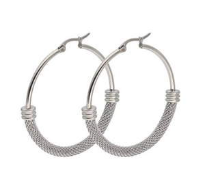 Mesh Hoop Gold Plated Earrings For Women - Hollywood Sensation