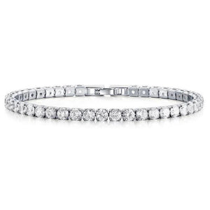"""Single Row Tennis Bracelet-Hollywood Sensations Cubic Zirconia Fancy  Bracelet"""