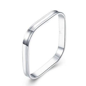 "Square Silver Bangle ""Hollywood Sensation's Lexi Bracelet"" - Hollywood Sensation"