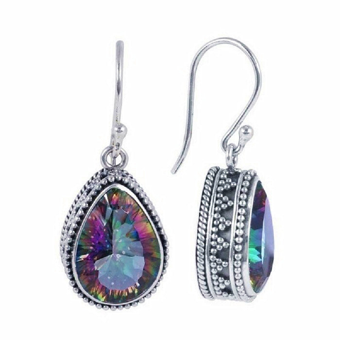 Topaz Teardrop Earrings-Hollywood Sensations Topaz Dangle Earrings