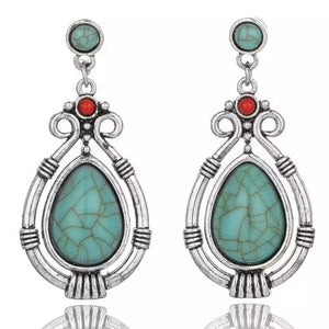 Turquoise Water Drop Dangle Earrings , Fashion Jewelry Brands