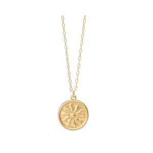 Sunrise Coin Pendant Necklace